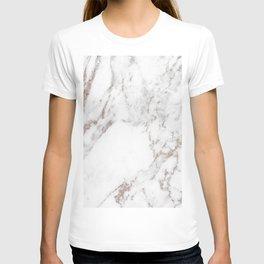Rose gold shimmer vein marble T-shirt