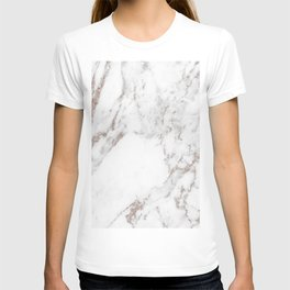 Rose gold shimmer vein marble T-shirt