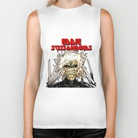 eddie vedder Biker Tanks featuring Eddie Scissorhands by Azhmodai