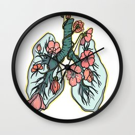 suffocating in bloom Wall Clock