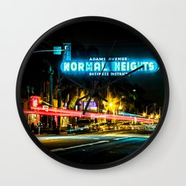Normal Heights (San Diego) Sign - SD Signs Series #2 Wall Clock
