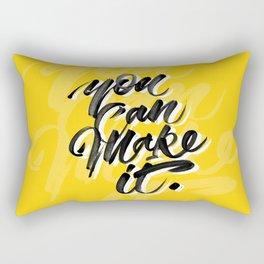 You can make it. Rectangular Pillow