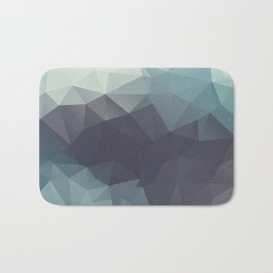 Polygon pattern . Triangles with a texture craquelure . 2 Bath Mat