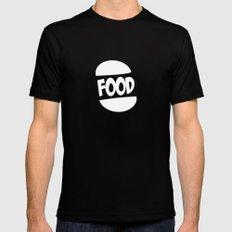 FOOD logo fun generic food logo Black MEDIUM Mens Fitted Tee