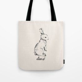 cheers little bunny Tote Bag