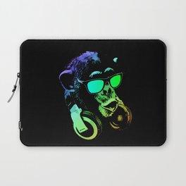 DJ Monkey In Neon Lights Laptop Sleeve