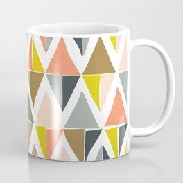 Colorful Geometric Triangle Pattern Coffee Mug