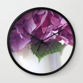 Daydreams in Hydrangea Wall Clock