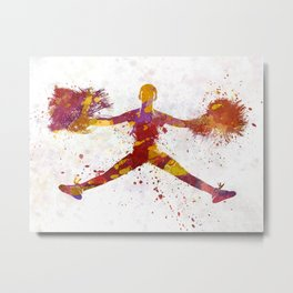 young woman cheerleader 05 Metal Print