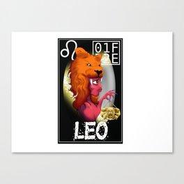 """LEO"" Zodiac Card Canvas Print"