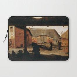 Cornelis van Dalem - Farmyard with a Beggar Laptop Sleeve