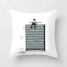 LITTLE DREAMS, BIG BOOKCASE Throw Pillow