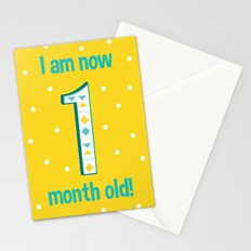 I'm a One Month Old Baby! Stationery Cards