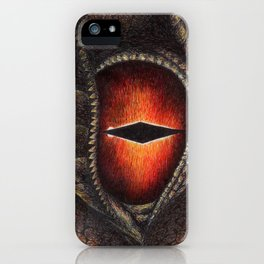 Red Dragon's Eye iPhone Case