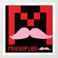 markiplier Art Prints featuring Markiplier Logo by pokelayfe