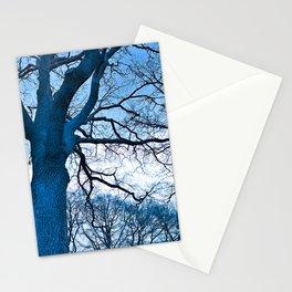 Majestic Tree (blue) Stationery Cards