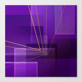 Yellow Angles Through Purple Landsca Canvas Print