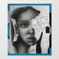 fka twigs Canvas Prints featuring FKA TWIGS by nordacious