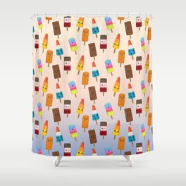 Chilled Friends Shower Curtain