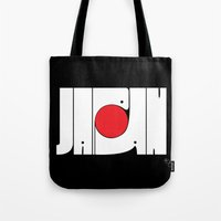japan Tote Bags featuring Japan by Mike Oncley
