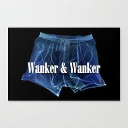 Wanker & Wanker Half Logo Canvas Print