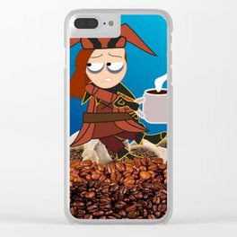 Cicero. Coffee. Clear iPhone Case