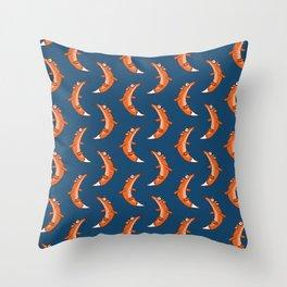 Moon Fox Throw Pillow