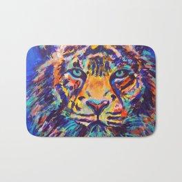 Turquoise-Eyed Tiger Bath Mat