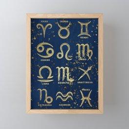 The 12 Zodiac Signs Framed Mini Art Print