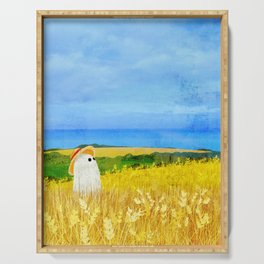 There's a Ghost in the Wheat Field Serving Tray