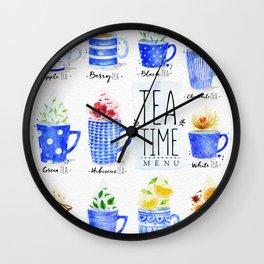 Poster tea menu Wall Clock