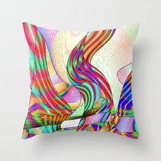 techno-doodle Throw Pillow