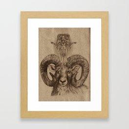 Nata & Ram, Faery Folk, Alpine Folklore Framed Art Print