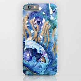 Golden Jellyfish iPhone Case