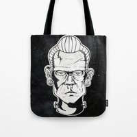 frankenstein Tote Bags featuring Frankenstein by Diseños Fofo