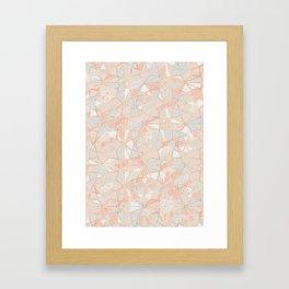 Pattern Rose Triangle Framed Art Print