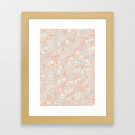 Pattern Rose Triangle Framed Art Print