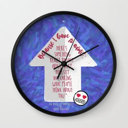 The Upside of Unrequited Quote Print Wall Clock