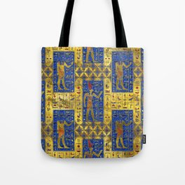 Egyptian  Gold  symbols on Lapis Lazuli Tote Bag