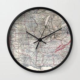 Vintage Pennsylvania Railroad Route Map Wall Clock
