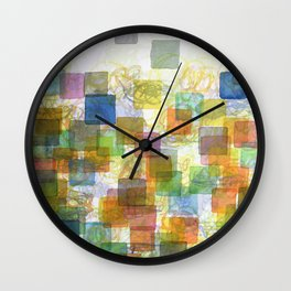 Dancing Squares Wall Clock