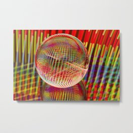 Criss Cross lights in the crystal ball Metal Print