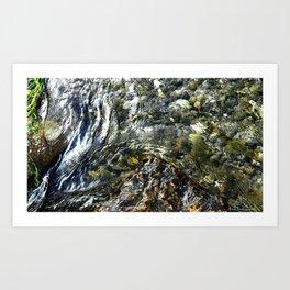 Rock & Ripples Art Print