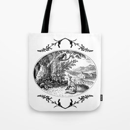 the fox and the crow Tote Bag