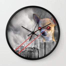 Chihuahuazilla Wall Clock