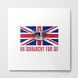 Exploding Crown - No Monarchy For Me Metal Print