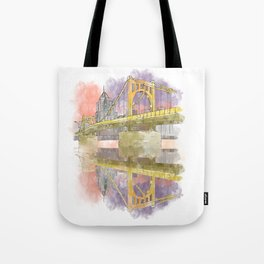 Pittsburgh Sister Bridge at Sunset Tote Bag