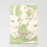 bunnies Stationery Cards featuring Bunnies by Adi Yochalis