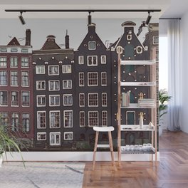 Traditional houses in Amsterdam Wall Mural