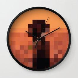 Lil Pixel Boat 2 Wall Clock